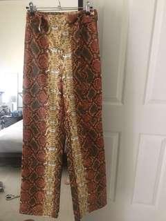 I AM GIA orange snake Shiraz pant