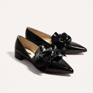 ZARA shoes with bow