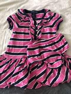 Ralph Lauren Pink Navy Dress