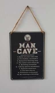 Man Cave Sign to hang