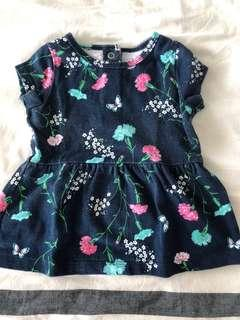 Carter's Baby Girl Navy Print Dress