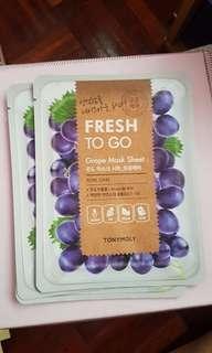 [Tony Moly] Fresh To Go Grape Mask Sheet #singles1111 #everything18