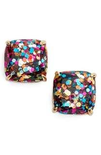 mini small square stud earrings