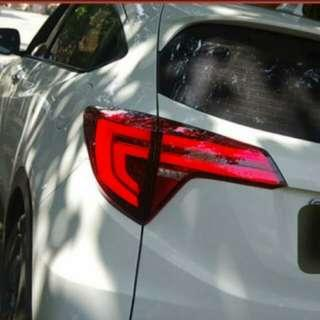 14 - 18 Honda HR-V (Vezel) Smoke Sequential Type LED Tail Lights Rear Lamp