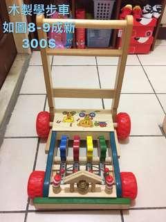 🚚 木製學步車