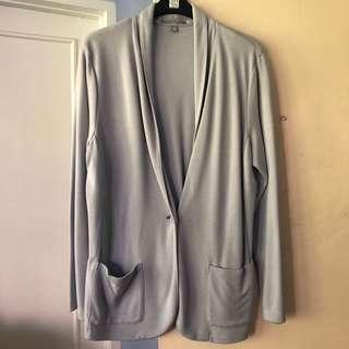 UNIQLO Gray cotton jersey blazer