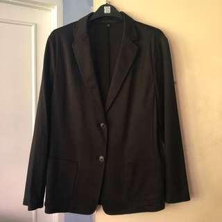 UNIQLO Black cotton jersey blazer