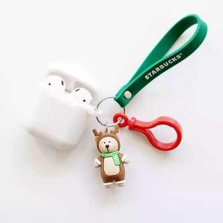 Airpods Starbucks 韓版小熊掛飾保護套