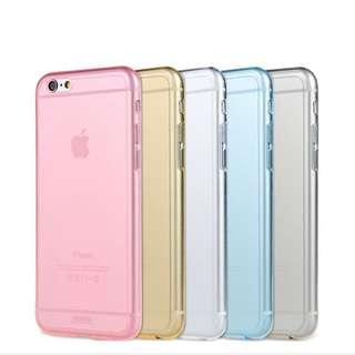 iPhone 6S Crystal Clear Pink Silicone Case