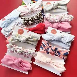 純棉髮帶🎀現貨‼️多款蝴蝶結可愛髮帶3入組