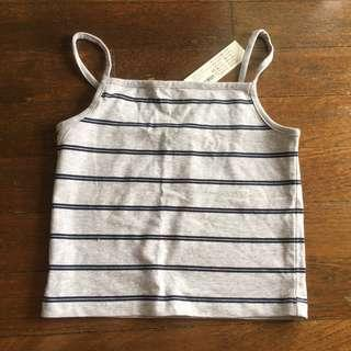 cotton on co striped cropped cami