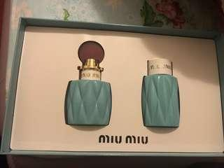 Brand new miu miu perfume set