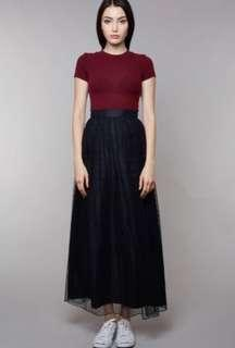BNWT Beautiful Stylish MDS Black full length Tulle Skirt!