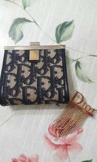 (正品)Dior零錢包+流蘇別針