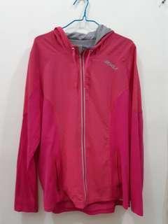 2XU pink woman sizeXL 女裝運動薄外套