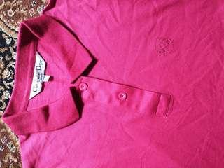 Christian dior pink collar tee