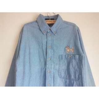日本單寧🇯🇵牛仔刺繡襯衫/牛仔外套