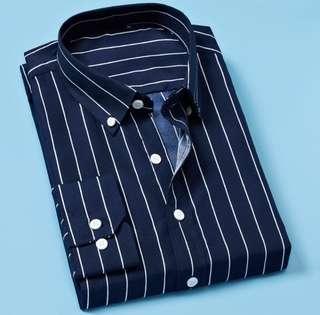 Men's Korean striped shirt