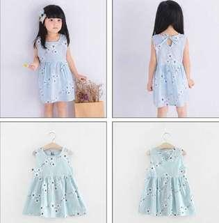 INSTOCK! Girl Dress Linen Sleeveless