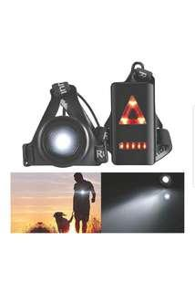 [NEW!現貨!] 夜間跑步燈 Outdoor LED Chest Light Night Running Warning Safety Lights With Removable Fixing Band USB Charge For Camping Hiking Running Walking