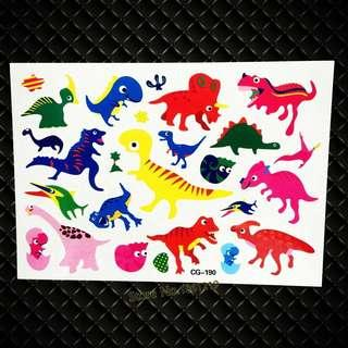 🦕 Dinosaur Party supplies - kids tattoo / party tattoos / party gifts / goodie bag gifts
