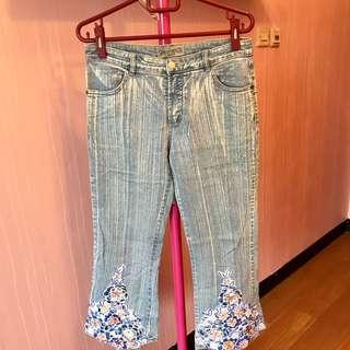 korean floral denim jeans
