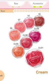 🚚 Canmake Cream Cheek Samples - CL01 Clear Red Heart