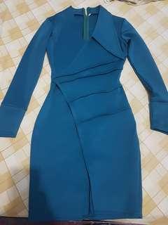 Dress tosca (bahan scuba)