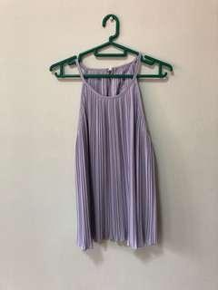 Lavender Pleated Top