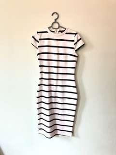 Bodycon Stripes Dress white/navy