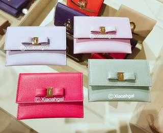 🌈LIMITED EDITION NEWEST 2018!!🌈🌞AUCTION (Retail $499+)▶️MY FOLLOWERS EXCLUSIVE!🌞❌Non Followers bid❌👜AUTHENTIC BRAND NEW+🌟RECEIPT🌟👜 FERRAGAMO Vera Bow Card Holder wallet for small bag (10 cards, Money, Apartment keys)💋No Pet No Smoker CLEAN hse💋