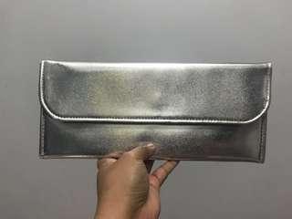 Unused Silver Wallet/clutch