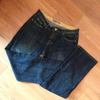 korean dark blue denim jeans