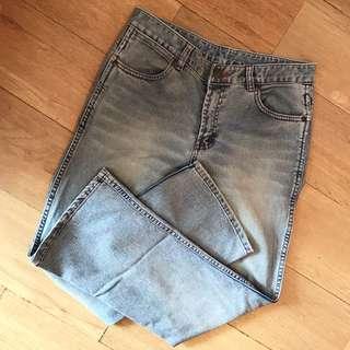 korean light blue denim jeans