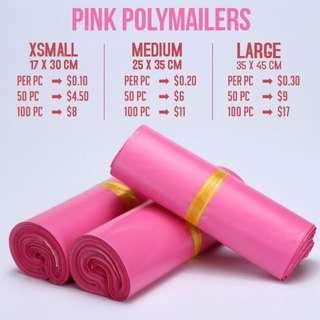 Pink Polymailer Courier Bag