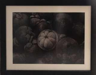 Charcoal Drawing with Black Frame