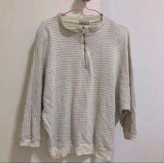 🚚 White Cream Knitted Pullover Sweater