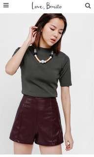 BN Shodia Faux Leather Shorts