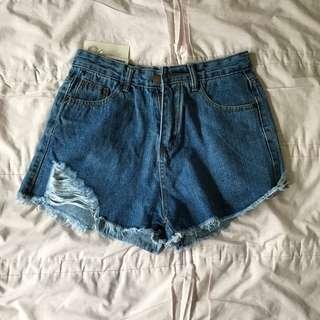 BNWT denim high waisted shorts