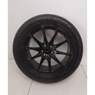 "17"" Sports Rim With Tyres 5x100 (SR1442)"