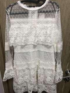 White Lace One Piece