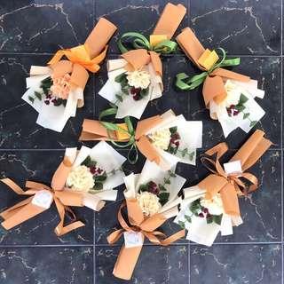 Mini Buket bunga flanel💐
