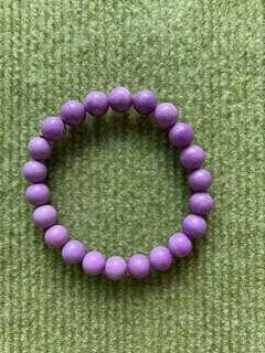 天然紫雲母手串 9mm