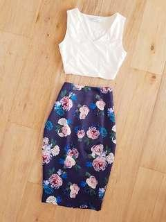 Forever New Floral Skirt Size 6