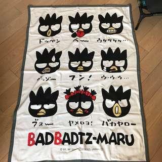 全新1996絕版XO仔 badbadtz maru Sanrio Blanket 毛氈