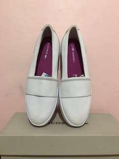Lacoste White slip on shoes