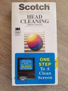 Scotch Head Cleaning Video Cassette Tape 洗錄影機磁頭帶