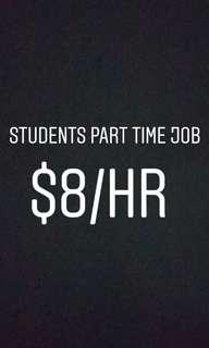 Students part time job