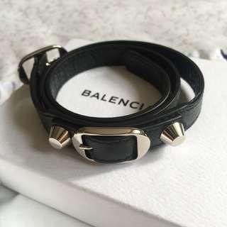 Balenciaga Classic Sliver Triple Tour Bracelet