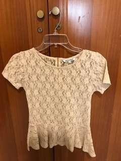 Colorbox Lacey Cream Top